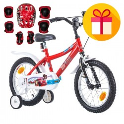 "Детски велосипед McQueen 16"" + подарък комплект каска с наколенки"