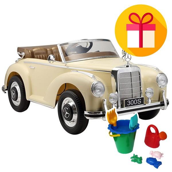 Детска акумулаторна кола Mercedes Benz 300S + подарък
