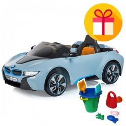 Детска акумулаторна кола BMW I8 Concept + подарък