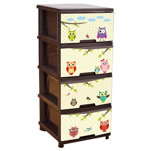 Детски шкаф за съхранение Бухал