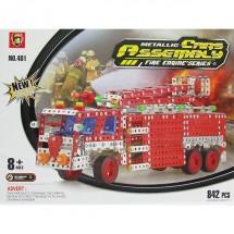 Метален конструктор Пожарен камион
