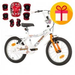"""Детски велосипед KIDDY 16"""" + подарък комплект каска с наколенки"""