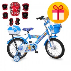 """Детско колело 1670 16"""" + подарък комплект каска с наколенки"""