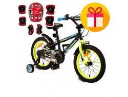 "Детско колело Monster  16"" + подарък комплект каска с наколенки"