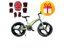 """Детски велосипед 1242 20"""" + подарък комплект каска с наколенки"""