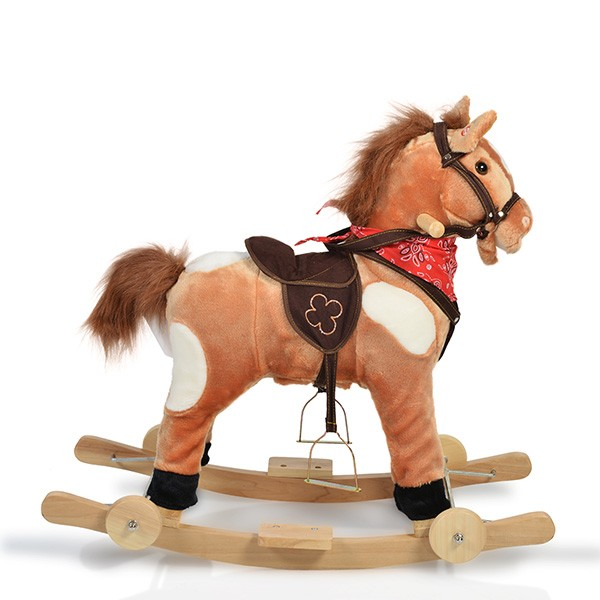 Детски плюшен кон с колела